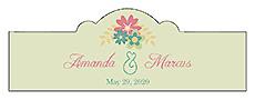 Infinity Floral Wreath Billbord Cigar Band Wedding Label