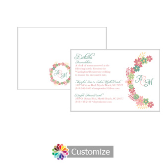 Floral Infinity Floral Wreath 5 x 3.5 Details Enclosure Card