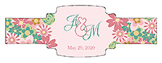 Infinity Floral Wreath Wedding Buckle Cigar Band Labels