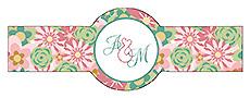 Infinity Floral Wreathr Wedding Cigar Band Label