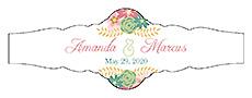 Infinity Floral Wreath Wedding Fancy Cigar Band Label