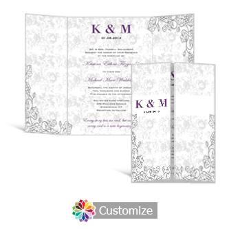 Iron Vine 5 x 7 Gate-Fold Wedding Invitation