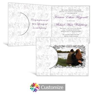 Iron Vine 7.25 x 5.125 Folded Wedding Invitation