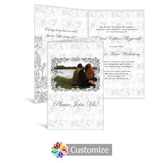Iron Vine 5 x 7.875 Half-Fold Wedding Invitation