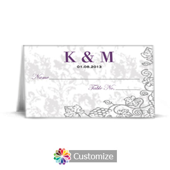 Iron Vine 3.5 x 2 Wedding Place Card