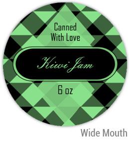 Kiwi Jam Wide Mouth Ball Jar Topper Insert