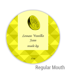 Lemon Vanilla Jam Regular Mouth Ball Jar Topper Insert
