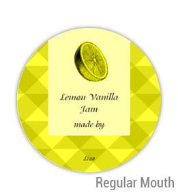 Lemon Vanilla Jam Regular Mouth Ball Jar Topper Insert