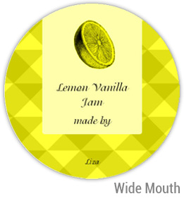 Lemon Vanilla Jam Wide Mouth Ball Jar Topper Insert