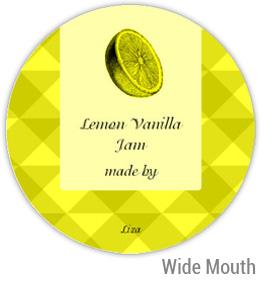 Lemon Vanilla Jam Wide Mouth Ball Jar Topper Insert