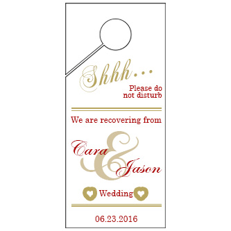 Line Wedding Door Hanger 4x9