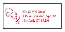 Love Swirly Address Wedding Labels