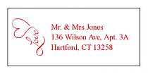 Love Swirly Address Wedding Labels