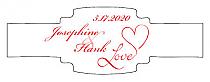 Love Swirly Buckle Cigar Band Wedding Labels