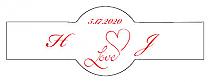 Love Swirly Cigar Band Wedding Labels