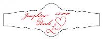 Love Swirly Fancy Cigar Band Wedding Labels