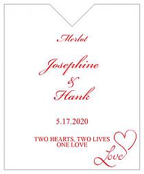 Love Swirly Wine Wedding Label 3.25x4
