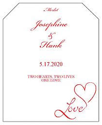 Love Swirly Wine Wedding Label