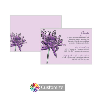 Floral Lovely Lavender 5 x 3.5 Details Enclosure Card
