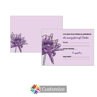 Floral Lovely Lavender 5 x 3.5 RSVP Enclosure Card - Reception