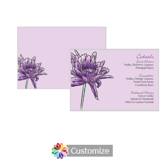 Floral Lovely Lavender 5 x 3.5 Accomodations Enclosure Card