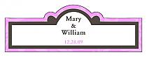 Magnolia Billbord Cigar Band Wedding Labels
