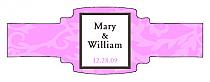 Magnolia Buckle Cigar Band Wedding Labels