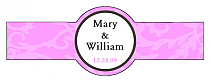Magnolia Cigar Band Wedding Labels