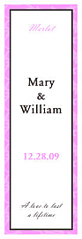 Magnolia Vertical Tall Rectangle Wine Wedding Label