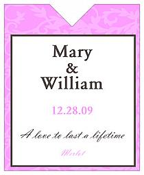 Magnolia Wine Wedding Label 3.25x4