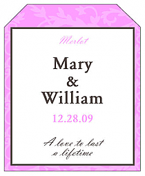Magnolia Wine Wedding Label