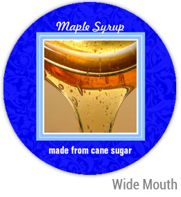 Maple Syrup Wide Mouth Ball Jar Topper Insert