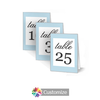 Memorable 2.5 x 3.5 Folded Wedding Table Number