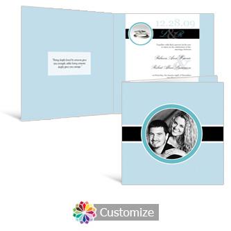 Memorable 6 x 6 Square Folded Wedding Invitation