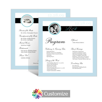 Memorable 5.875 x 5.875 Square Wedding Program