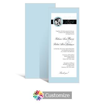 Memorable 3.625 x 8.875 Tea-Length Wedding Invitation