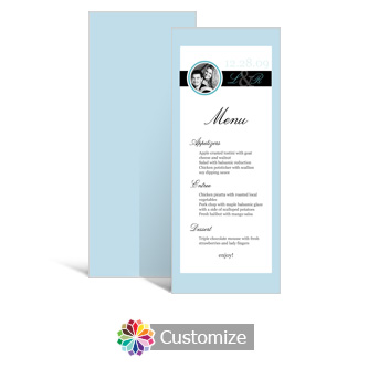 Memorable 3.625 x 8.875 Tea-Length Wedding Menu