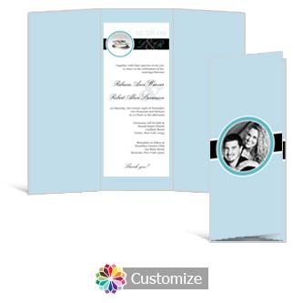 Memorable 3.625 x 8.875 Tri-Fold Wedding Invitation