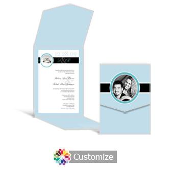 Memorable 5.25 x 7.25 Vertical Gate-Fold Wedding Invitation