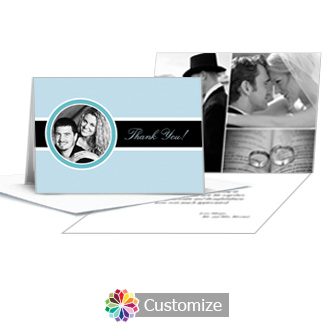 Memorable Wedding Thank You Card With Photo and Custom Greeting