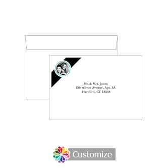 Custom Printing on Wedding Memorable Response Card Envelopes