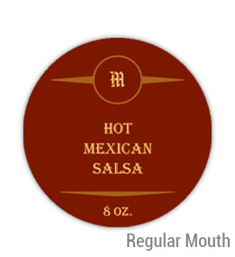 Mexican Salsa Regular Mouth Ball Jar Topper Insert