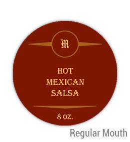 Mexican Salsa Regular Mouth Ball Jar Topper Insert