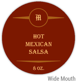Mexican Salsa Wide Mouth Ball Jar Topper Insert