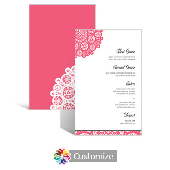 Bold Geometric 5 x 7.875 Rectangle Flat Wedding Menu