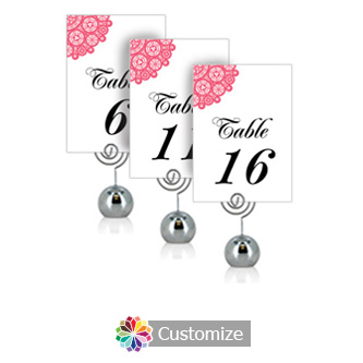 Bold Geometric 3.5 x 5 Flat Wedding Table Number for Stand