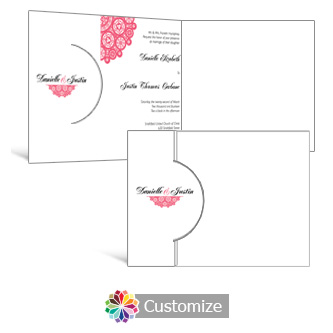 Bold Geometric 7.25 x 5.125 Folded Wedding Invitation