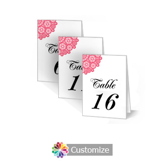 Bold Geometric 2.5 x 3.5 Folded Wedding Table Number