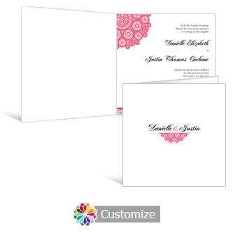 Bold Geometric 6 x 6 Square Folded Wedding Invitation