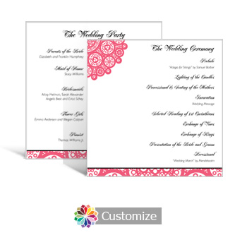 Bold Geometric 5.875 x 5.875 Square Wedding Program